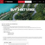 Buy 3 Get 1 FREE on Select Yokohama Tyres @ Yokohama