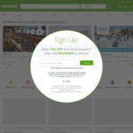 Up to 30% Site Wide (Unlimited Redemptions, Maximum Discount $40) @ Groupon