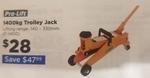 Pro-Lift 1400kg Garage Jack $28 (Save $48) @ Repco