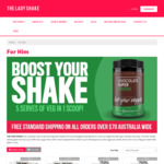 20% off The Man Shake or The Lady Shake (Min Spend $140) @ The Lady Shake