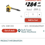 Dewalt 18v/54v Blower 9ah Battery and Charger $299 ($284.05 with Power Pass) @ Bunnings Warehouse