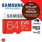 Samsung EVO Plus Micro SD 64GB - 2 for $22.35, Xiaomi Mi PowerBank 2s 10000mAh $14.96 + Delivery ($0 with eBay Plus) @ SS eBay