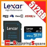Lexar High Performance Micro SD Card 633x 512GB $98.95 + Delivery ($0 with eBay Plus) @ Apus Express eBay