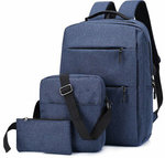 Xmund 3pcs Backpack Set 20.8l 15.6-Inch USB Charging, Waterproof AU $23.12 / US $15.39 Shipped @ Banggood