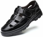 Large Size Summer Slip-On Men's Leather Flat Sandals - US $23.19 (~AU $33.83) Delivered @ Wholesale Win