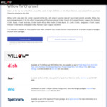 Willow.tv - New Annual Plan $45USD (VPN Required)