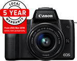 Canon EOS M50 15-45MM Single Lens Kit $599 (Bonus $30 Cashback via Redemption) @ CameraPro