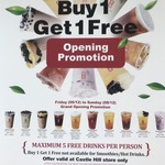 [NSW] Buy 1 Get 1 Free (Top 10 Only) @ Gong Cha, Castle Hill