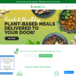 $10 off $50 Spend on Vegan Home Delivered Meals (Free Delivery with $150+ Spend) @ HerbiDoor