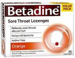 Betadine Sore Throat Lozenges Orange 36 Packs $7.72 + Delivery ($0 with Prime/ $39 Spend) @ Amazon AU