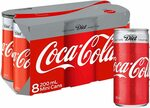 Diet Coca-Cola Soft Drink Mini Cans, 8 x 200ml $5.50 ($4.95 with S&S) + Delivery ($0 with Prime/ $39 Spend) @ Amazon AU