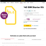 Optus $40 Pre-Paid Starter SIM Kit $15 Delivered @ Optus Online