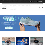 20% Site Wide for Mother's Day at Mizuno