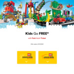 Free Kids Entry with with Paid Adult Ticket @ LEGO Land Resorts and Discovery Centres