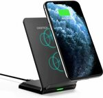 Choetech 10W Qi-Certified Wireless Charging Stand $17.99 + Delivery ($0 with Prime/ $39 Spend) @ Choetech Amazon AU