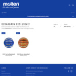 Molten GMX and GNX Series Basketballs - $40 Delivered @ Molten Australia