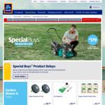 Petrol Mower $179, Line Trimmer $99.99, LED Smart Bulbs $12.99, LED Downlights $3.99, 20V Brushless Hammer Drill $79.99 @ ALDI