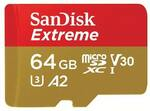 SanDisk Extreme 64GB MicroSD $9 + Delivery (Free with C&C) @ PLE Computers