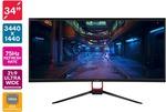 "Kogan 34"" 75hz Ultrawide WQHD LCD Monitor $399 + Shipping ($0 with First) @ Kogan"