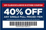 40% off Any Single Full Priced Item (in Store) @ Spotlight (VIP Club Members)