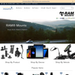 15% off RAM Mounts with $40 Minimum Spend + Delivery ($0 with $100 Spend) @ Modest Mounts