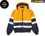 Hi-Vis Jacket $39.99, Hi-Vis Top/Hoodie $19.99, Woodlands Work Boots $34.99 @ ALDI