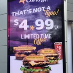 [VIC] Famous Star with Cheese, The Big Carl or Western Bacon Cheeseburger for $4.99 Each at Carl's Jr