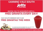 Free Granita at One For The Road (Canning Vale) for Existing Jetts Members (Canning Vale)
