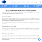 [NSW] Australian Made P2 Face Masks: 25 Pack $44.95, 50 Pack $74.95, 100 Pack $139.95 + Free Express NSW Delivery @ PPE Tech