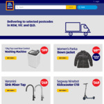 [NSW, QLD, VIC] Veronini Sink Mixer Tap $249, Segway Ninebot Kickscooter E10 $349 & More @ ALDI (Online Only)