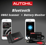 AUTOHIL AX2 Car Bluetooth OBD2 Scanner Tool + ABM2 Bluetooth Battery Monitor Deal $75 Delivered @ Fuel Economy Solutions eBay AU