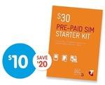 Telstra $30 SIM Starter Pre-Paid for $10 (Save $20) at BIGW Starts 15 Nov