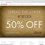 GUESS Up to 50% off RRP Instore or Online