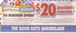 $20 Discount Voucher - The Good Guys [QLD ONLY]