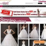 Ball Gown Wedding Dresses up to 60% OFF with Free Gift, Register Now to Get $10 Coupon