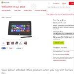 Microsoft Surface Pro 64GB $679 & Surface Pro 128GB $769 Free Shipping @ Microsoft Store AU