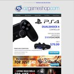 OzGameShop - Buy PS4 DualShock4 Controller for $79.99 and Receive $10 Voucher - Expires 19/01/14