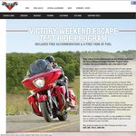 Victory Motorbikes - Free Tank of Petrol and Free Night Accomodation