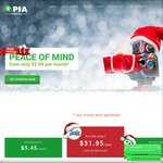PrivateInternetAccess VPN Account 1 Year USD $31.95 1 Month USD $5.45 Save 20% Christmas Deal