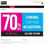 [VIC/QLD] 70% off Storewide @ Form Home | Mother's Day Sale