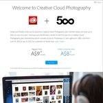 Adobe Creative Cloud Subscription $8.50/Month (First Year Only) (500px Membership Required)