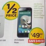 ZTE Fit Smart 4G Smartphone $49.50 (Save $49.50 - Half Price) @ Woolworths (Starts 29/7)