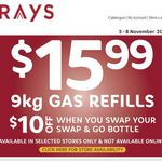 Rays Outdoors 9KG Gas Refills $15.99