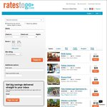 20% (with Coupon) off Hotels @ RatesToGo.com