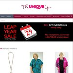 Leap Year Half Price Sale off Everything @ The Unique You (Today Only)