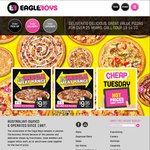 Pizzas from $3.95 (Tuesday Specials) at Eagle Boys