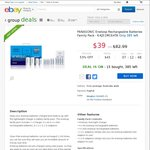 Eneloop Family Pack - Overnight Charger & 10 Batteries + Adapters $39.00 Shipped @ Bing Lee eBay