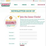 Free Doughnut Plus $10 off Online Order Coupon When You Sign up to The Krispy Kreme Newsletter