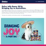 Purchase 8 Litres or More of Dulux Paint in One Transaction and Receive a FREE 2.5kg Can of Jelly Beans