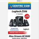 Logitech Z506 Speakers $75 | Samsung LED Monitor $139 | Max-Stream AC2600 Router $269 | Acer Aspire R13 $999 @CentreCom